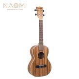 NAOMI 21/23/26 Pollici 15 tasti 4 corde Zebrawood chitarra acustica Ukelele strumento a corda musicale