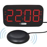 Zeit Halter ZH027A Цифровой LED Будильник Часы Двойные вибрационные зарядные устройства USB Colorful Ночник Трехуровневая регулировка громкости Электро