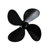 4 Blades Fan Blade Replacement For Fireplace Stove Fan Heat Powered Aluminum Alloy Burning Kit