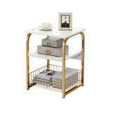2/3 Layers Nordic Square Coffee Table Tea Table Mini Sofa Side Table Storage Desk for Home Living Room