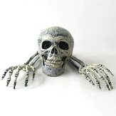 3 pezzi Halloween scheletro teschio decorazione fornitura teschio mani giocattoli per bambini regalo per bambini decorazione per interni all'aperto