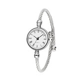 Fashion Simple Trendy Roman Numerals Dial Full Alloy Women Bracelet Quartz Watch
