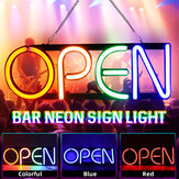 OPEN Neon Sign Reclame Licht Opknoping Bar Pub Party Home Kamer Wanddecoratie 100-240V US Plug