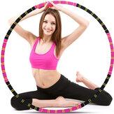 Fitness Circle Afslankcirkel met roestvrijstalen link Afneembare hoepel voor gymnastiek Outdoor Foam Sports Circle