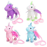 Electric Magic Walking Wiggle Singing Unicorn Stuffed Plush Toy Kids Christmas Gifts