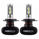 NightEye S1 Car LED Headlights Bulbs Front Fog Lamps H4 H7 H11 9005 9006 50W 8000LM 6500K