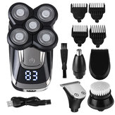 5 In 1 Intelligent Display Hair Trimmer Multifunction 600mAh Battery USB Electric Hair Clipper Haircut Tool