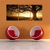 3Pcs Sunset Combination Painting Printed On Canvas Frameless Drawing Home Background Paper Art