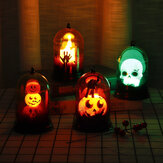 Witch Pumpkin Ghost Skull Halloween LED Night Light Hanging Lantern Lamp for Home Party Decor