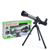 HD 20X 30X 40X Times Refractor Eyepiece Astronomical Telescope with Tripod Science Experiment Toys for Children Gift