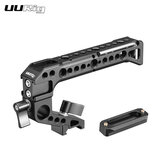 UURig R042 Universal Camera Cage Handle Hand Grip With 1/4 Screw Cold Shoe Mount for DSLR