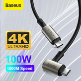 Baseus 100W 5A USB-C naar USB-C Power Delivery PD3.0 QC4.0 Snel opladen Coxial-kabel USB 3.1 gen2 10Gbps Data Sync-kabel 4K HD Display Video-uitgang voor Samsung Galaxy S20 Huawei P40 Voor iPad Pro 2020 MacBook Pro 2020