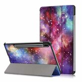 Tri-Fold Printing Tablet Case Cover for Samsung Tab S7 SM-T870 T875 - Galactics Version
