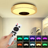 72W RGB Music LED Smart Ceiling Light Dimmable Lamp Bluetooth APP Control