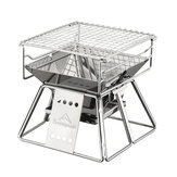 Portable Stainless Steel BBQ Grill Barbecue Outdoor Camping Picnic Tool Foldable BBQ Grill