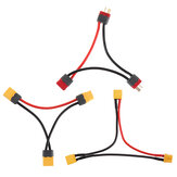 XT60 XT30 Deans T Plug Series Harness Battery Connector Cable Dual Extension Y Splitter Silicone Wire