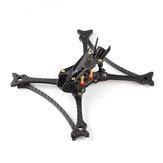 HGLRC Wind5 Lite Analógico 208mm 5mm Braço True X 3K Carbon Fibra de 5 polegadas Kit de armação para RC Drone FPV Racing