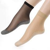 Mulheres Velvet Cotton Bottom Sock curto antiderrapante pés Massagem confortável meias respiráveis