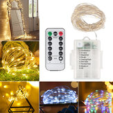 10M 100LED Flexible Waterproof String Light 8 Modes Holiday Christmas DIY Copper Wire Lamp with Remote Controller Christmas Decorations Clearance Christmas Lights