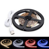 DC5V 2M Pure White Warm White Red Blue 2835 SMD Impermeable USB LED Strip Backlight para el hogar