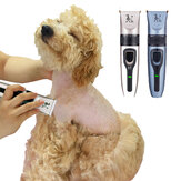 Rechargeable Electrical Pet Hair Trimmer Dog Cat Low-noise Hair Clipper Grooming Shaver Cut Machine Scissors Comb Cleaning Brush Set