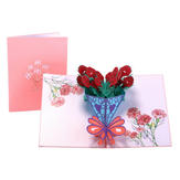 3D Vintage Flowers Mother's Day Greeting Card Birthday Greeting Cards