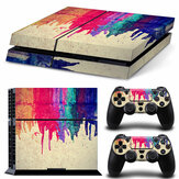 Vinyl Decal Skin Sticker Set para PS4 Para Sony PlayStation 4 Console 2 Controller