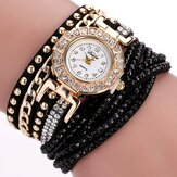 DUOYA Luxury Nation Style  Crystal Gold Bracelet Watch Ladies Vintage Kuarsa Wirstwatches