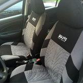 Dvojitý sedák Fabric Car Full Surround Přední sedák Cover Cushion Protector Stolní podložka Univerzální černá a šedá