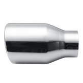 63mm-102mm Chrome Stainless Steel Car Round Rear Pipe Tail Exhaust Muffler Tip