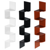 5 Tiers Wall Corner Bookshelf Storage Rack Wall Mounted Bookcase Space Saving Organizer for Home Office