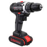 36V Cordless Power Drills Dual Speed Electric Screwdriver Drill Polishing W/ 1 or 2 Li-ion Battery