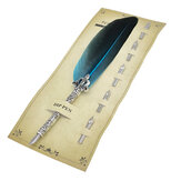 Pluma de pluma Pluma Set Creative Feather Fountain Pluma 0.7mm Nib Writing Signing Plumas Gifts