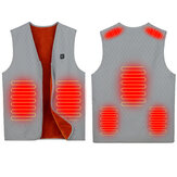7 Heating Area Electric Heated Vest Jacket USB Thermal Warm Up Pad Body Winter