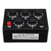 0-9999.9Ω Variable Resistor Substitution Box Ohm Adjustable Substitution Resistance Knob Switch Precision Physical Experiment