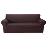 1/2/3 Seaters Velvet Sofa Cover Pure Color Elastic Chair Seat Protector Couch Case Stretch Slipcover Home Office Furniture Decorations