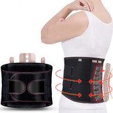KALOADSoporteparalaespaldaCorrector de hombro lumbar ajustable Aptitud Ejercicio deportivo Calentamiento automático Cinturón Protector