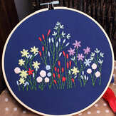 Embroidery Kit for Beginner Flower Pattern Cross Stitch Needlework Without Hoop