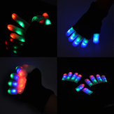 7 Mode LED Finger Lighting Flashing Glow Mittens Gloves Rave Light Festive Event Party Supplies