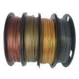 CCTREE® 4Color PLA Set Bronze + Copper + Gold + Silver 1.75mm 200g / Roll PLA مجموعة خيوط للطابعة ثلاثية الأبعاد Reprap