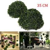 35 centímetros decoração pendurado artificial casamento jardinagem topiaria folha grama bola de efeito bola de plástico