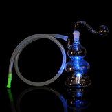 LED Hoookah Pipe Tuyaux Fumer L'eau Tuyaux En Verre Bouteille Lumières Changement