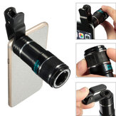 Universal 12X Zoom Optical Clip Telephoto Telescope Camera Lens For Tablet Cell Phone