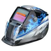 Bleu flamme solaire Auto Darkening soudeurs Masque de soudage Masque Mode de meulage Automatique