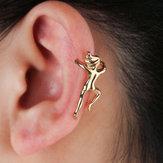 Funny Figure Gymnast Human Shape Earring No Piercing Ear Clip Trendy Earrings for Women