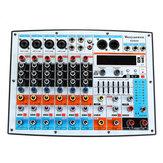 WENYANWEN DDM8X 4-kanaals 7-bands Main EQ 16 DSP-effecten Audiomixer Bluetooth Live Studio Audio Mixing Console