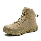 Men Outdoor Suede Breathable Non Slip Hiking Combat Boots
