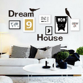 3D Dream House Multi-cor DIY Shape Mirror Wall Stickers Home Wall Bedroom Office Decor