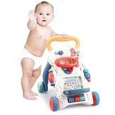 Sit-to-Stand Baby Learning Walker Stroller Εκπαιδευτικό παιχνίδι ώθησης για μωρά Νήπια Παιδιά Walkers Διαδραστικό παιχνίδι παιχνιδιού