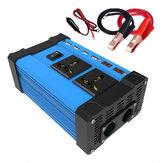 4000W Coche Solar Inversor de corriente DC 12V a AC 110V / 220V Convertidor de onda sinusoidal 2 USB